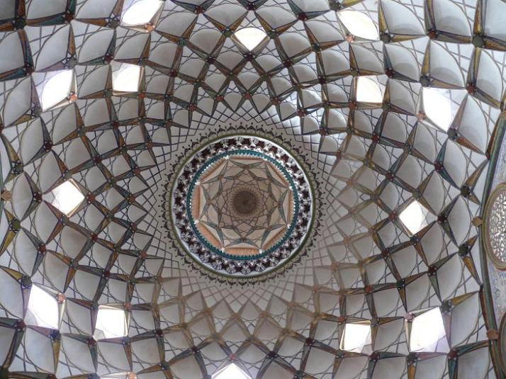Ceiling in Borjerdi House (Kashan)