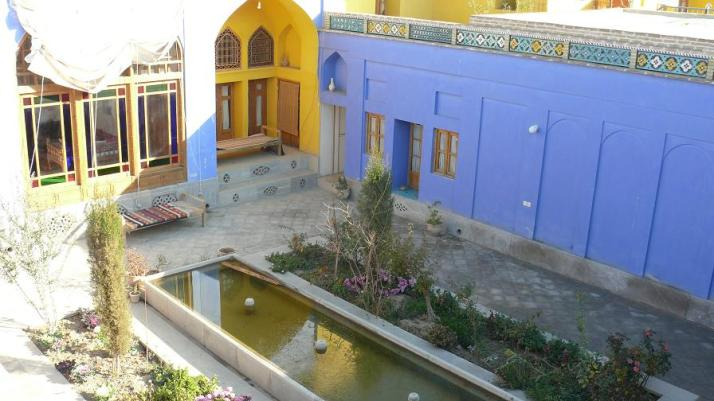 The courtyard of Dibai House...according to Ms.Sufi no chemcial paint was used in the renovation since these houses need to 'breath'