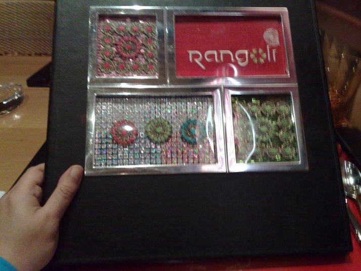 Rangoli's Menu