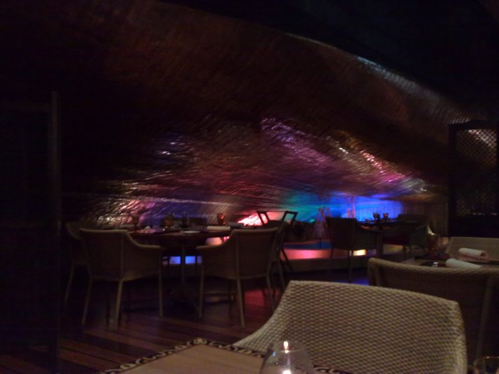 The restaurant is build around the base of this dhow. The Dhow itself is another restaurant